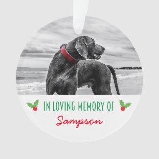 PET MEMORIAL CHRISTMAS TREE DECORATION | HOLLY