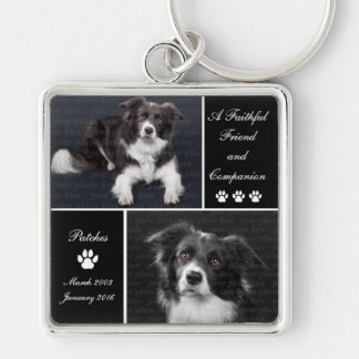 Pet Memorial Dog Photo Tribute Key Ring