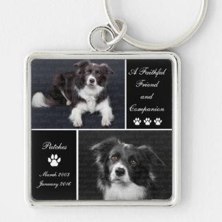 Pet Memorial Dog Photo Tribute Key Ring