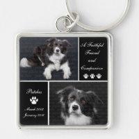 Pet Memorial Dog Photo Tribute Keychain