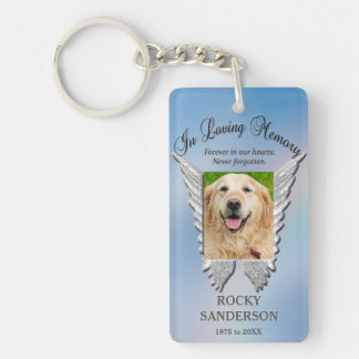 Pet Memorial Double-Sided Rectangular Acrylic Key Ring