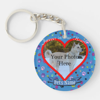 Pet Memorial - Forever In Our Hearts Key Ring
