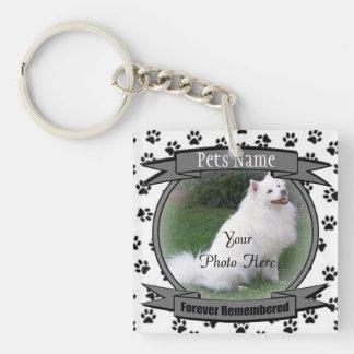 Pet Memorial - Forever Remembered - Pet Loss Dog Key Ring