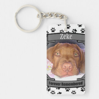 Pet Memorial - Forever Remembered - Pet Loss Dog Key Ring