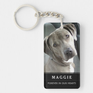 Pet Memorial God Saw Her Getting Tired Poem-Female Key Ring