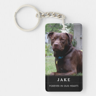 Pet Memorial - God Saw Him Getting Tired Poem Male Double-Sided Rectangular Acrylic Key Ring