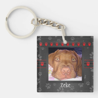 Pet Memorial - Paw Prints - Pet Loss Key Ring