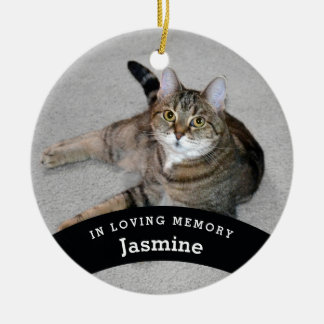 Pet Memorial Personalized Add Name and Photo Christmas Ornament