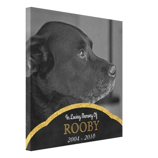 Pet Memorial Photo Custom Personalised Name Canvas Print