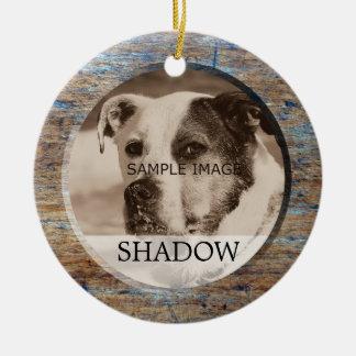 Pet Memorial Photo | In Memory Of Sympathy Christmas Ornament