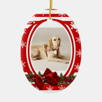 Pet memorial photo PERSONALIZE Ceramic Oval Decoration