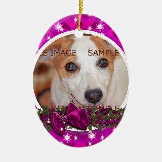 Pet memorial photo PERSONALIZE Christmas Ornament