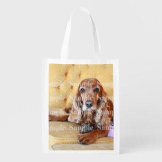 Pet memorial photo PERSONALIZE Reusable Grocery Bag
