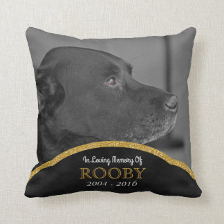 Pet Memorial Photo Personalized | Dog Condolence Cushion