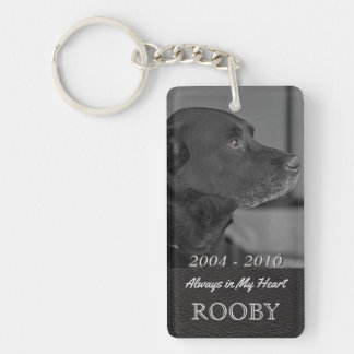 Pet Memorial Photo | Tribute In My Heart Key Ring