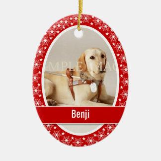 Pet memorial photo verse PERSONALIZE Christmas Ornament