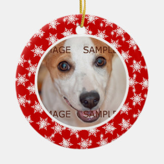 Pet memorial photo verse PERSONALIZE Christmas Ornament