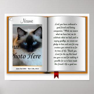 Pet Memorial Postal Print - Religious - Cat Dog