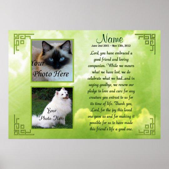 Pet Memorial Poster Print - Religious - Cat