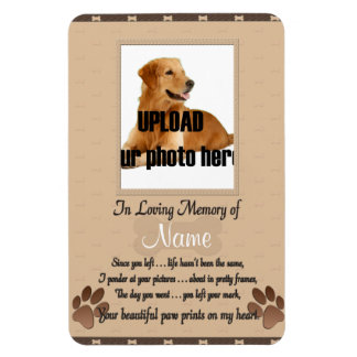 Pet Memorial -Your Beautifu Paw Prints on My Heart Magnet