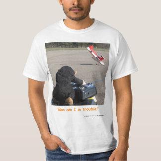 Pet Monkey crashing dads RC Airplane T-Shirt