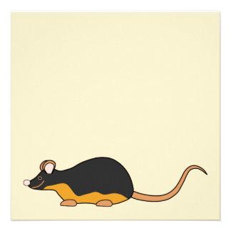 Pet Mouse. Black Tan. Invitations
