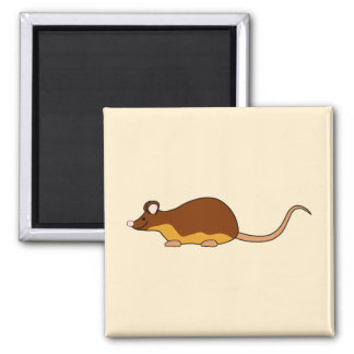 Pet Mouse. Chocolate Brown, Tan. Magnet