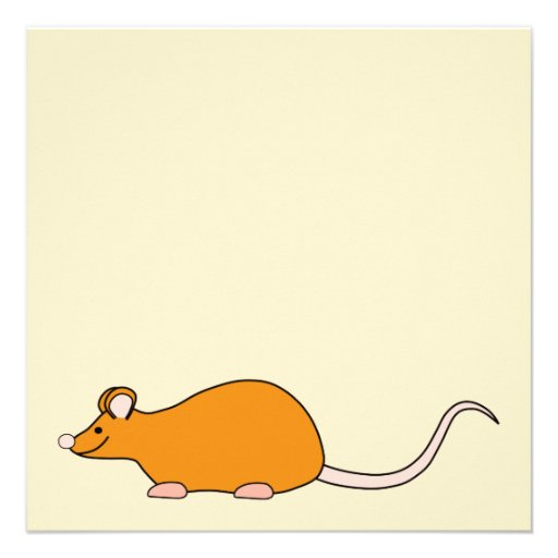 Pet Mouse. Cinnamon Color. Invitations
