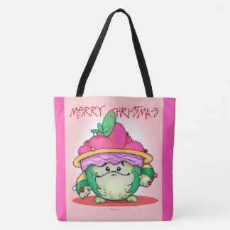 PET NUTTY PUFF FUNNY CHRISTMAS CARTOON TOTE BAG