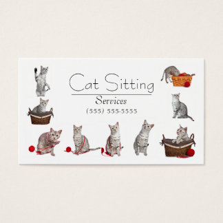 Pet or Cat Sitting Business Card