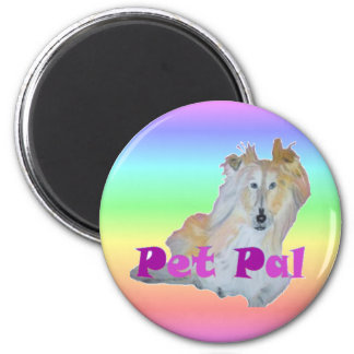 Pet Pal 6 Cm Round Magnet