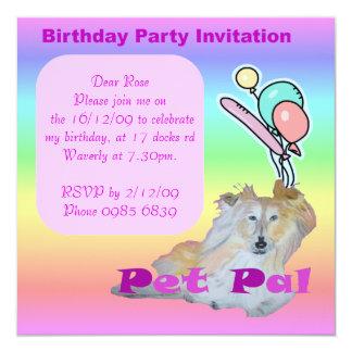 Pet Pal 5.25x5.25 Square Paper Invitation Card