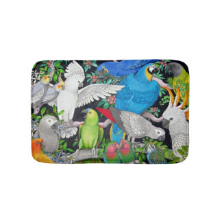 Pet Parrots of the World Bath Mat