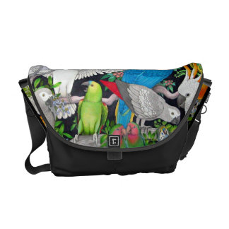 Pet Parrots of the World Rickshaw Messenger Bag