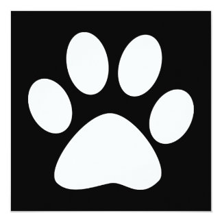 pet paw card