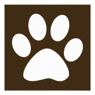 pet paw color customizable announcement