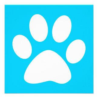 pet paw : color customizable announcement