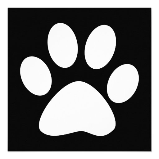 pet paw custom invitation