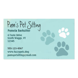 Pet Paw Prints Animal Lover Pack Of Standard Business Cards