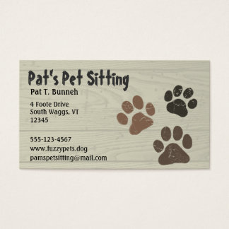 Pet Paws Business Card