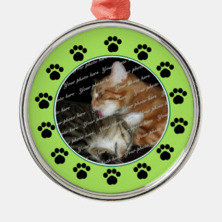 Pet Paws/ Green Christmas Ornament