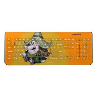 PET PEPE CARTOON  Custom Wireless Keyboard