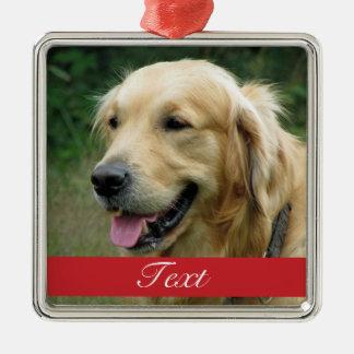 Pet Photo customizable Silver-Colored Square Decoration