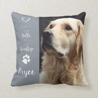 Pet Photo Memorial - Add Your Photo - Dog Photo Cushion