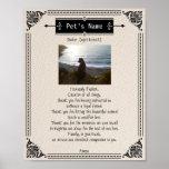 Pet Photo Memorial Dog Prayer - Poster