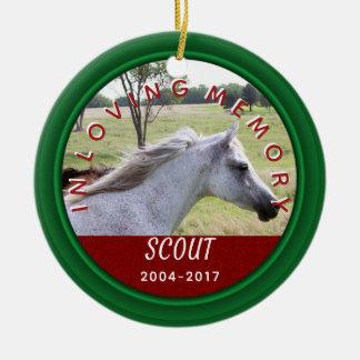 Pet Photo Name Year   In Loving Memory Memorial Christmas Ornament