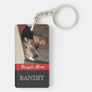 Pet Photo Personalized | Beagle Mom Beagle Dog Key Ring