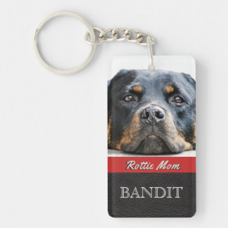 Pet Photo Personalized | Rottie Mom Rottweiler Dog Key Ring