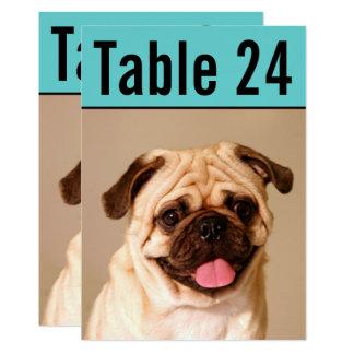 Pet Photo Table Number Cards   Custom Template 13 Cm X 18 Cm Invitation Card