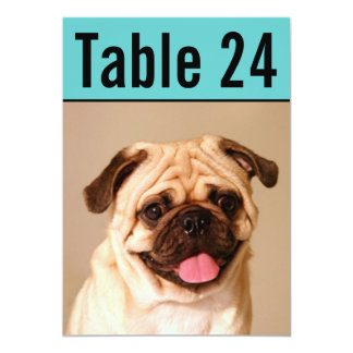 Pet Photo Table Number Cards | Custom Template 13 Cm X 18 Cm Invitation Card